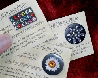 Shungite Cell Phone Plate, 4 styles.