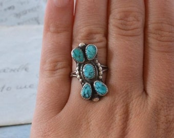 Vintage Navajo Turquoise Ring - Size 6