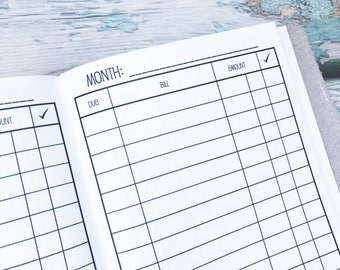 Traveler's Notebook B6 Size Bill Pay Checklist
