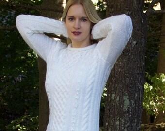 Womens Hand Knit Wool Sweater, Wool Sweater, Womens Sweater, hand knit, handmade sweater, sweater,
