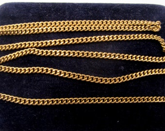 "Vintage 1970's gold filled chain 24"" L"