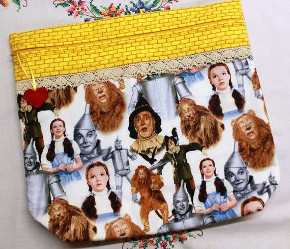 MORE2LUV Wizard of Oz Cross Stitch Embroidery Project Bag