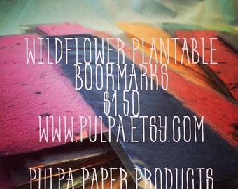 Wildflower Seeded Bookmark