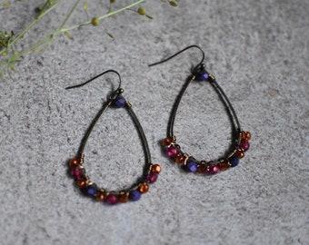 Czech Glass Earrings, Bohemain Earrings