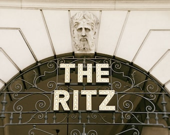 London Photography, The Ritz Hotel, Architecture, Fine Art Print, brown, gold, cream, Home Decor, Wall Art