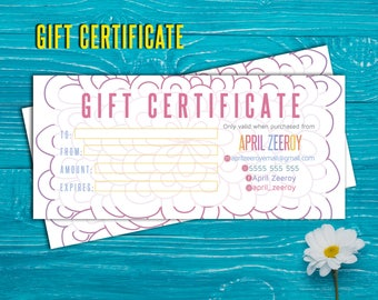 SaLe! Gift Certificate; H O Approved; custom gift certificate, certificate, cash, Printable!