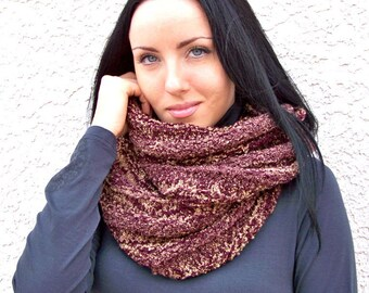 KNITTING PATTERN, Knit Infinity Scarf Pattern, Knit Scarf Pattern, Chunky Knit Scarf Pattern, Knit Cowl Pattern, Cowl Scarf Pattern Knit