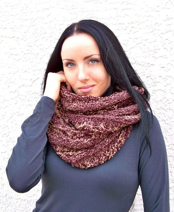 Knitting Pattern Knit Infinity Scarf Pattern Knit Scarf