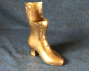Vintage Solid Brass Victorian Ladies Boot