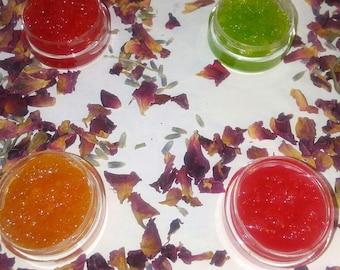 Flavored Lip Exfoliate and Lip Balm (All Natural)
