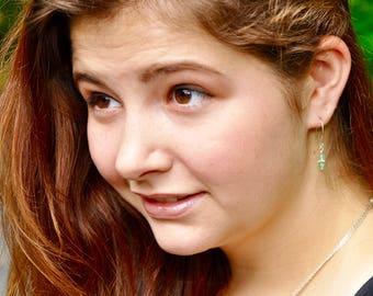 Stone Drop Earrings / Semi-precious stone earrings / Sterling Silver handcrafted earrings