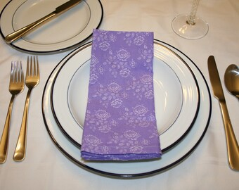 Patterned Reusable Cotton Dinner Napkin