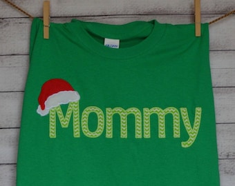 or Dad with Santa Hat Applique Shirt - Listing is for 1 adult shirt
