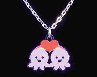 Western Zodiac Gemini Octopus Necklace
