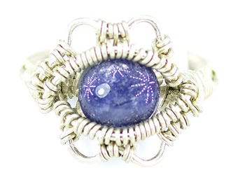 Blue Sapphire heady Wire Wrap Ring Size 9.5 , Sapphire ring