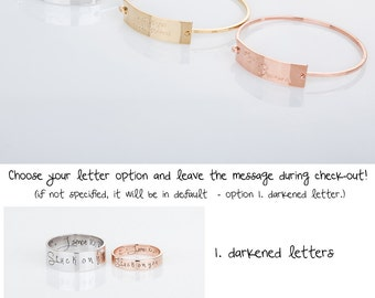 Gold Name Bangle, Personalized Bangle Bracelet, Custom Bangle Bracelet, Personalized Engraved Bracelet, Memorial Gift, Gift for her
