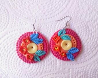 Flower hippie style Handmade Earrings