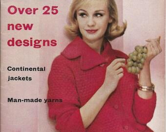 Vogue Knitting Magazine No. 56 1960 Spring/Summer Vintage UK 25 Patterns PDF Copy