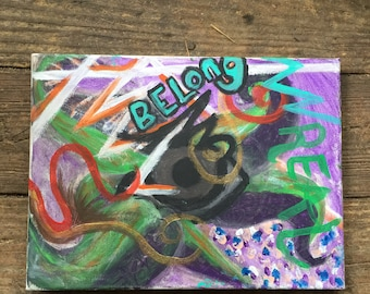 Acrylic painting //Belong//
