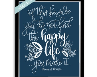 Happy Life - Printable     8.5x11