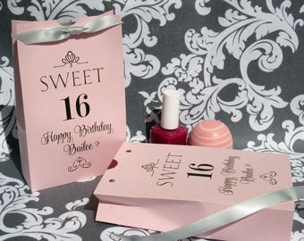 Sweet 16 Favors - 16th Birthday  - Sweet 16 Party - Sweet 16 favor Box - Sweet 16 Birthday - Sweet Sixteen - Favor Boxes