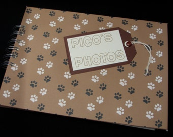 Cute Personalised Puppy Dog Paw Prints Photo Album Scrapbook Brag Book Notebook