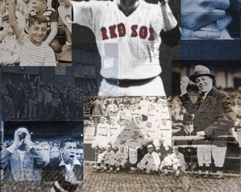 A History of the Boston Red Sox, digital collage of the history of the Boston Red Sox.