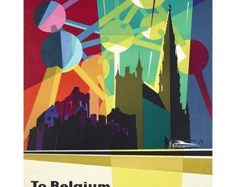"Poster - ""Atomium"" - Sabena - 1958 - fine art gallery"