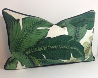 Tommy Bahama Linen Swaying Palms Pillow Cover in Indoor Fabric