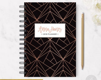 2018 Monthly Planner #13 - Hardcover - Coil Bound - Tabbed - Weekly Planner