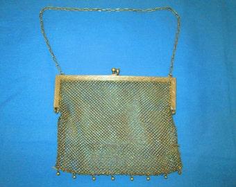 Antique Silver Mesh Chainmail Purse