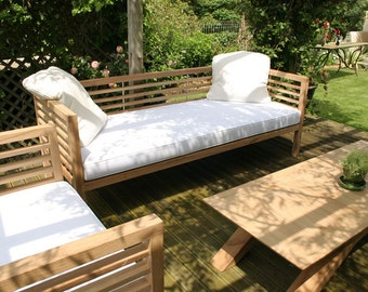 Bespoke Sustainable Oak Garden Bench/Day Bed