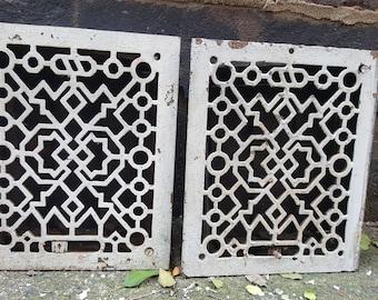 Rectangular Floor Grates Turn of the Century L@@K!!/ ca 1900's/ Architectural Salvage/ Return Vents