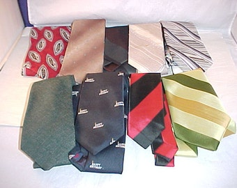Vintage Men's Ties Lot of 9