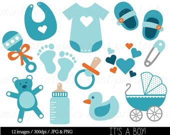 baby shower clipart clip art baby boy clipart baby clipart rh etsy com free baby clipart borders and frames free clipart baby boy shower