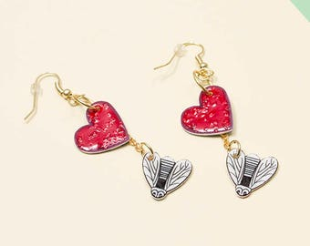Love Bug Dangley Charm Earrings