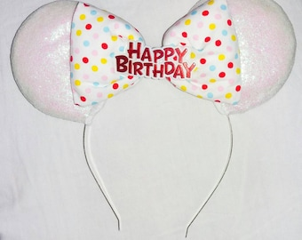 Happy birthday glitter ears