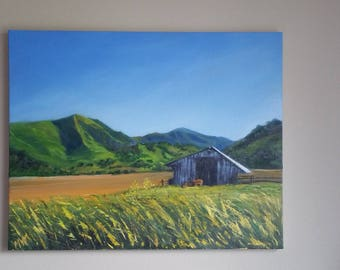 """California Spring Original  Oil Landscape of Californai Countryside 26"""" by 22"""" by Melissa Wadsworth"""