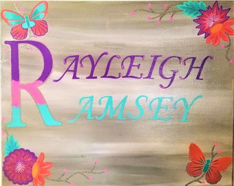 Canvas Name Sign