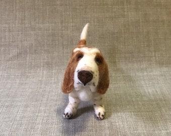 Needle Felt dog- Basset Hound