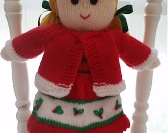 Beautifully hand knitted dollies
