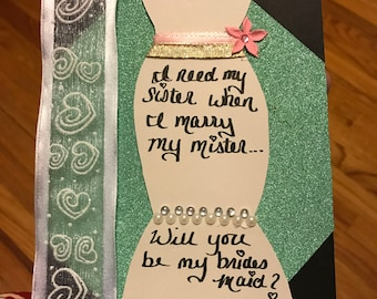 Bridesmaid Invitation Gift, Will You Be My Bridesmaid Bridal Party Anouncement, Bridesmaid Invitation, Bridal Shower