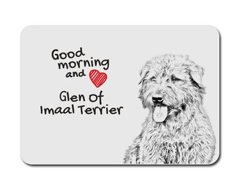 Glen of Imaal Terrier , A mouse pad with the image of a dog. Collection!