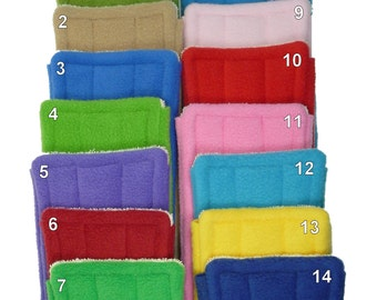 """6 FLEECE & TERRY Double Sided Reusable Swiffer Pads, EcoGreen Pads, washable Swiffer Sweeper pads, mop and dust pad, fits 10"""" mop heads"""