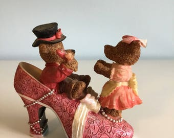 Bear Figurine Vintage Teddy Bears vintage Shoe Figurine
