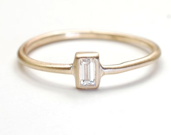 Diamond Engagement Ring Engagement Ring Baguette Engagement
