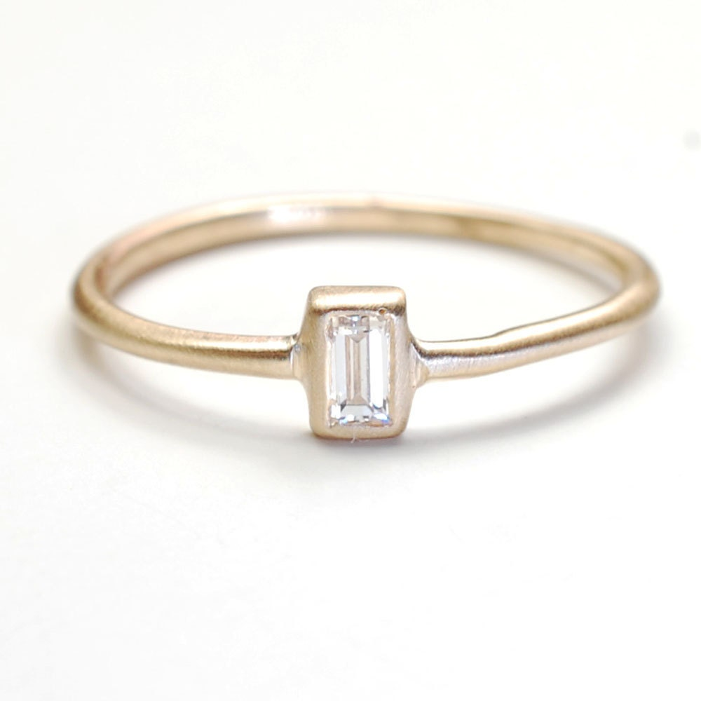 baguette band in rings diamond tw stone gold white wedding