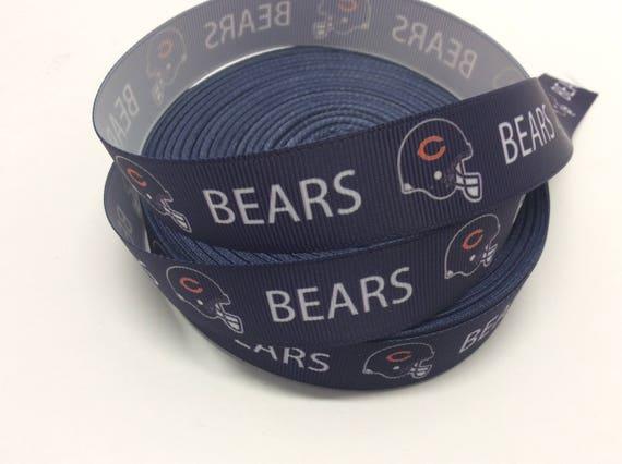 Chicago Bears Bänder Fußball-Bänder 7/8 Zoll Ripsband