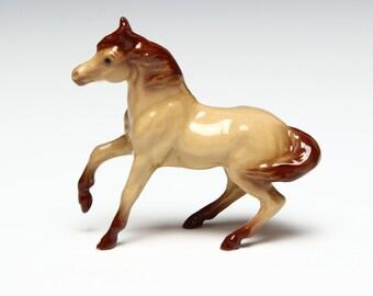 Hagen Renaker Mini Horse Figurine - Red Dun Mare - Ceramic Animal