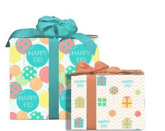 """Happy Eid"""" Colorful Gift Wrap Eid Decoration"""